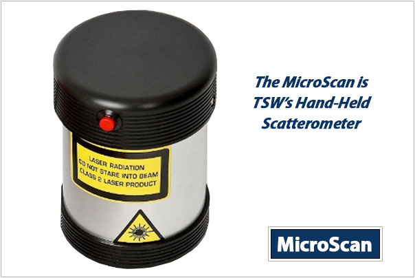THE HAND HELD SCATTEROMETER CALLED THE MICROSCAN