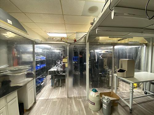Our optical scatter measurement lab in Gresham Oregon